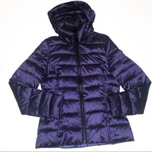 Ana Plum Purple Quilted Packable Puffer Coat